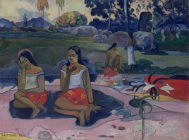 Paul Gauguin, Sacred Spring: Sweet Dreams (Nave Nave Moe), 1894, oil on canvas, 74 x 100 cm © State Hermitage Museum, St Petersburg